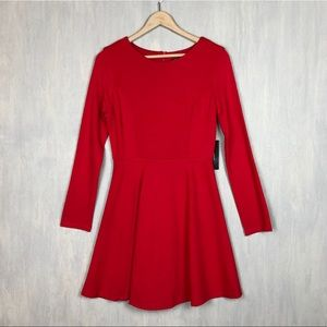 NWT Lulu's red fit and flare dress M holiday